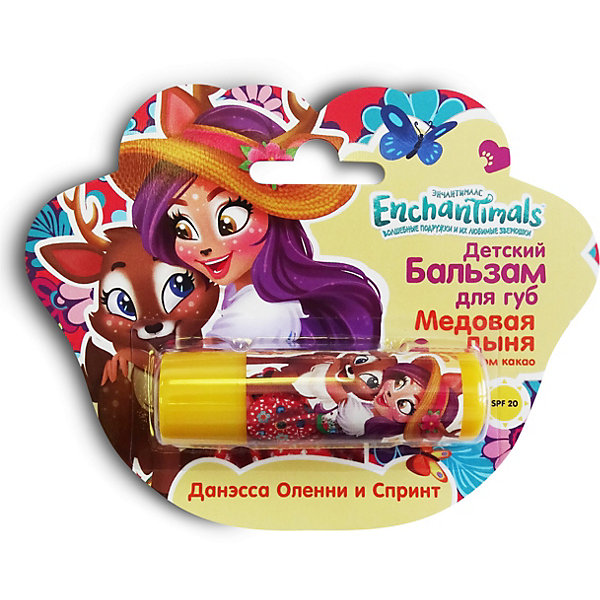 Markwins Детский бальзам для губ Enchantimals Медовая дыня с маслом какао