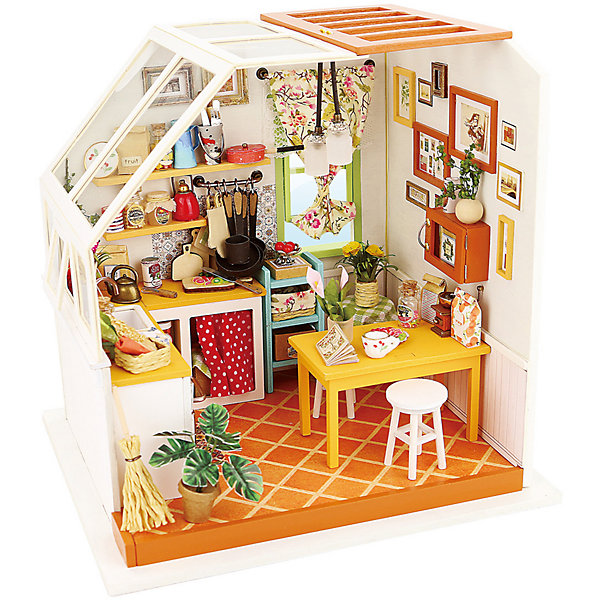 Diy House Румбокс DIY House Кухня furniture diy doll house wooden miniature doll houses furniture kit puzzle handmade dollhouse craft toys for christmas gift