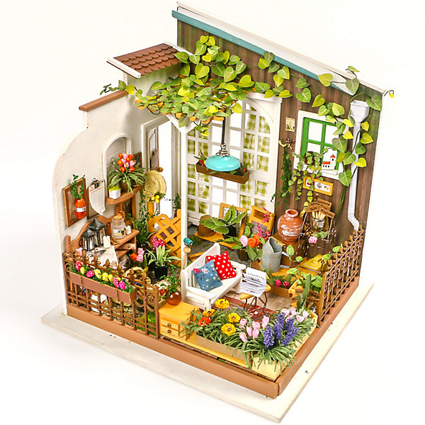 Diy House Румбокс DIY House Сад furniture diy doll house wooden miniature doll houses furniture kit puzzle handmade dollhouse craft toys for christmas gift