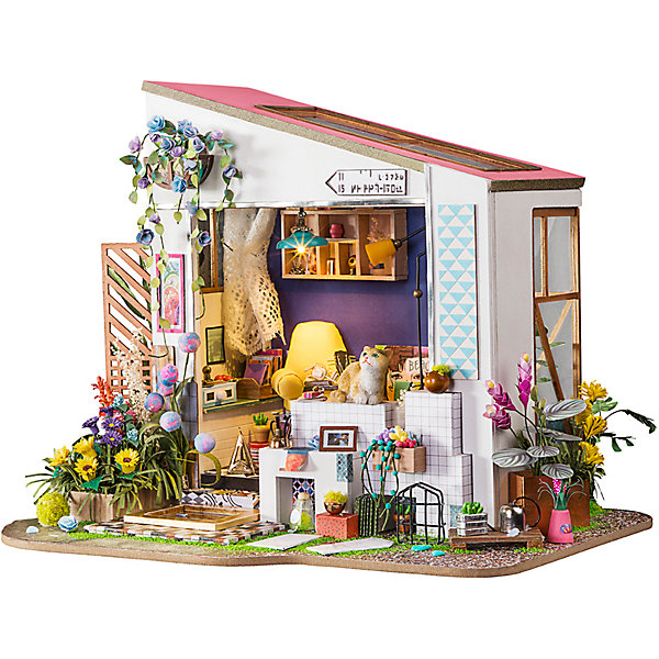 Diy House Румбокс DIY House Летний домик furniture diy doll house wooden miniature doll houses furniture kit puzzle handmade dollhouse craft toys for christmas gift