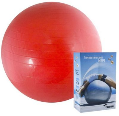 Гимнастический мяч Palmon  Стандарт  45 см, красный, артикул:10248439 - Фитнес