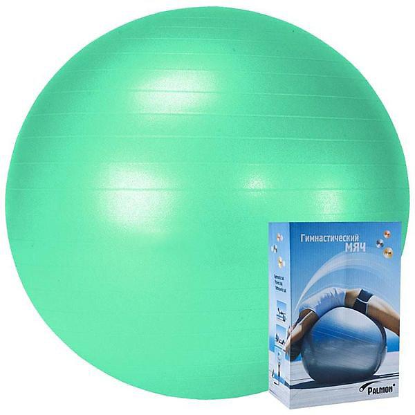 Palmon Гимнастический мяч Palmon Стандарт 75 см, морская волна мяч гимнастический kettler цвет бордовый 75 см