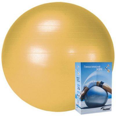 Гимнастический мяч Palmon  Стандарт  55 см, оранжевый, артикул:10248463 - Фитнес