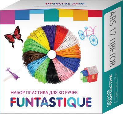 Комплект ABS-пластика Funtastique для 3д ручек, 12 цветов, артикул:10257291 - 3D ручки