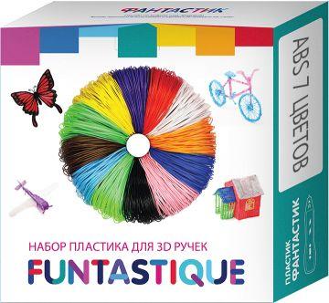 Комплект ABS-пластика Funtastique для 3д ручек, 7 цветов, артикул:10257292 - 3D ручки