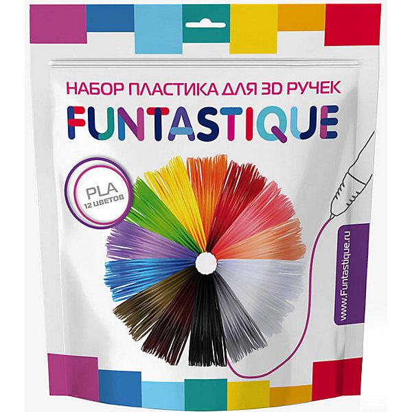 FUNtastique Комплект PLA-пластика Funtastique для 3д ручек, 12 цветов набор пластика cactus pla для 3d ручек 12 цветов по 10 метров