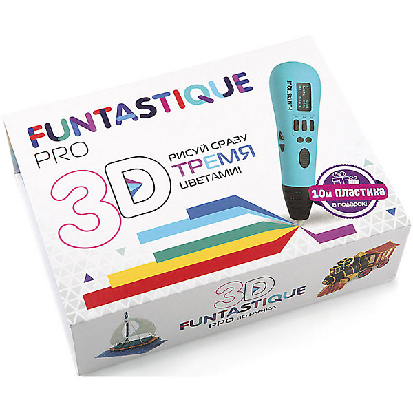 FUNtastique 3D-ручка Funtastique Pro, голубая 3d ручка funtastique pro light blue