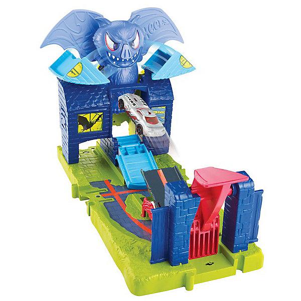 Mattel Автотрек Hot Wheels Сити с монтрами-злодеями Логово Дракулы