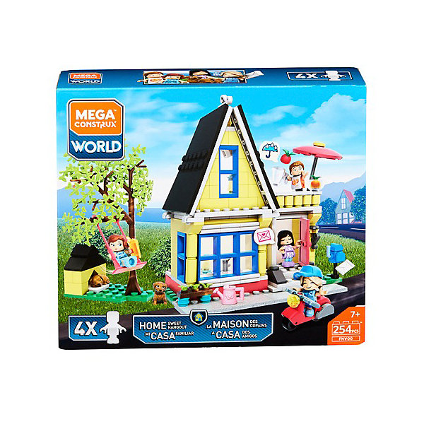 Фото - Mattel Конструктор Mega Construx World of Yootz Загородный дом, 254 детали mattel конструктор mega construx barbie королевский бал