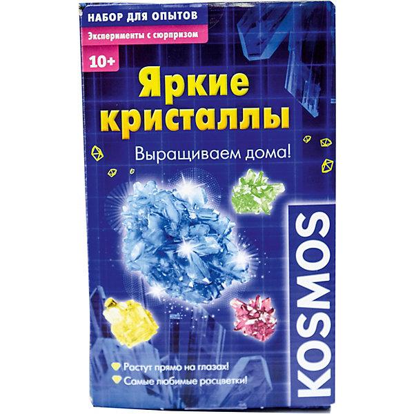 Kosmos Набор для опытов Kosmos Яркие кристаллы бумбарам набор для опытов тайны кристаллов