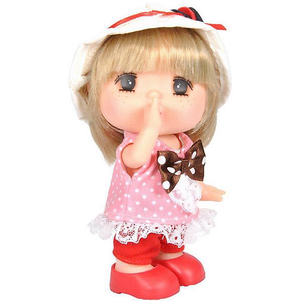 Lotus Onda Мини-кукла Mademoiselle GeGe в розовом платье горошек, 15 см
