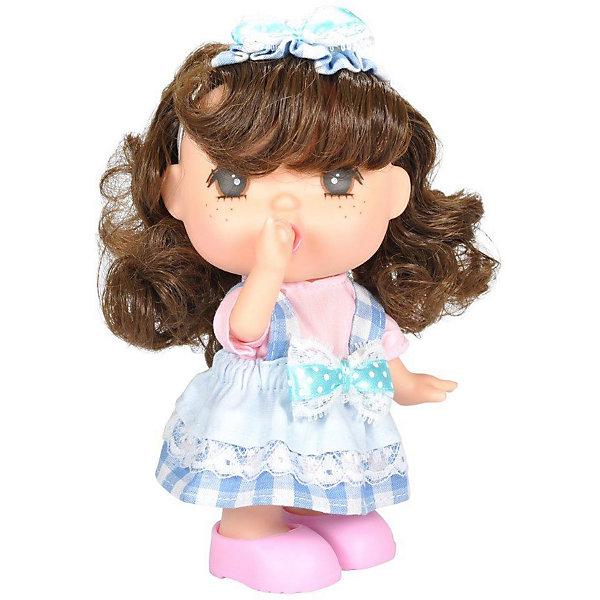 Lotus Onda Мини-кукла Lotus Mademoiselle GeGe в клетчатом сарафане, 15 см lotus onda кукла милана