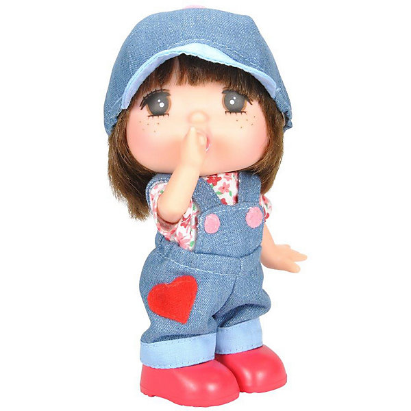 Lotus Onda Мини-кукла Mademoiselle GeGe в джинсовом комбинезоне, 15 см