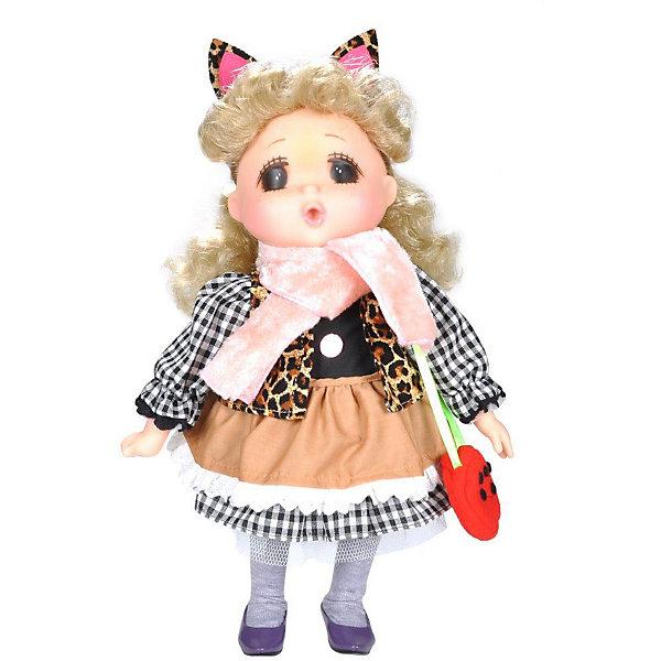 Lotus Onda Мини-кукла Mademoiselle GeGe в коричневом платье, 38 см