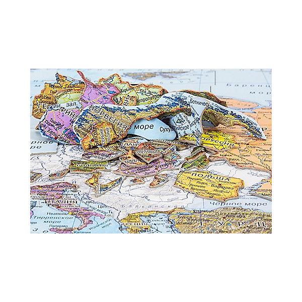 АГТ Геоцентр Карта-пазл Геоцентр Европа атласы и карты геоцентр детская карта мира настольная