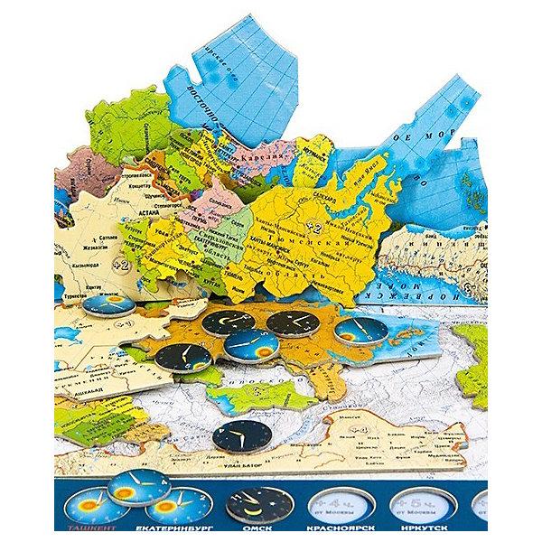 Купить Карта-пазл Геоцентр Россия часовые пояса , АГТ Геоцентр, Унисекс