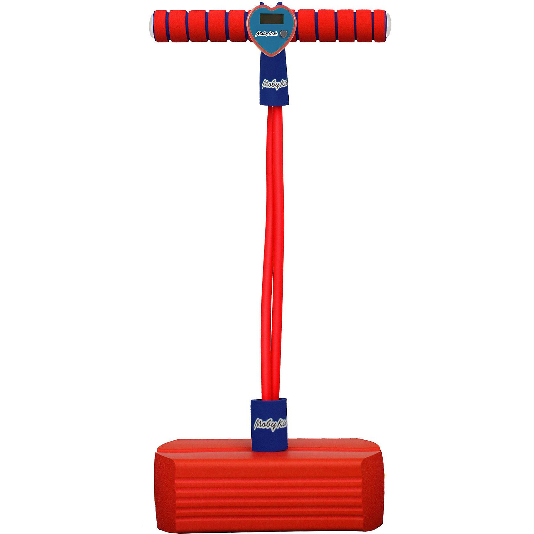 Moby Kids / Тренажер для прыжков Moby-Jumper со счетчиком, светом и звуком, красный