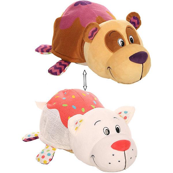 1Toy Мягкая игрушка-вывернушка 1toy Ням-Ням Панда с ароматом черничных оладьев-Кошечка ванильного пиро