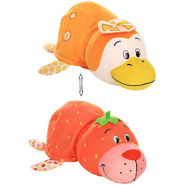 1Toy Мягкая игрушка-вывернушка 1toy Ням-Ням Морской котик с ароматом клубники-Пингвинчик с ароматом апельсиновой туники ням ням туника