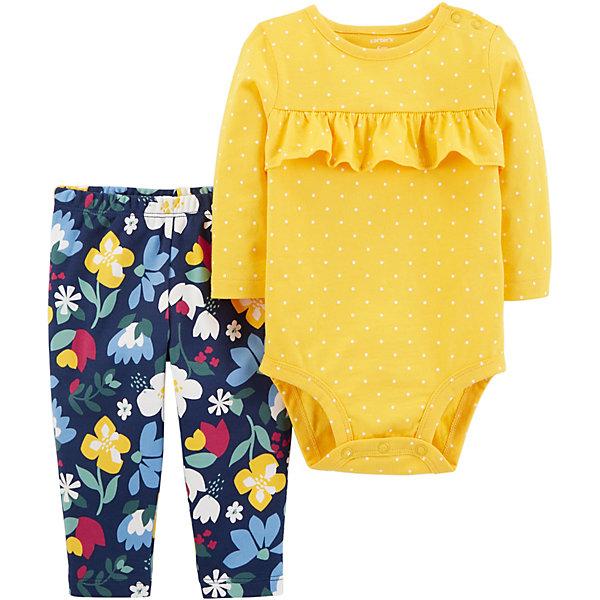 carter`s Комплект: Боди и брюки Carter's для девочки цена и фото