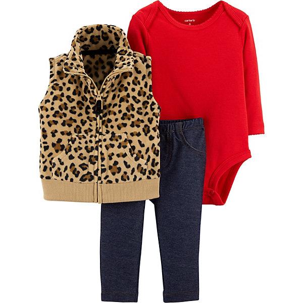 Фото - carter`s Комплект: Жилет, боди и брюки Carter's для девочки боди детский luvable friends 60325 f бирюзовый р 55 61