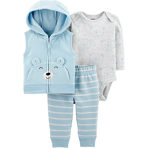 Комплект: Жилет, боди и брюки Carter's для мальчика Carter`s