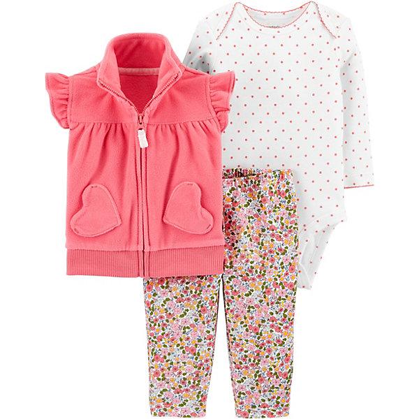 carter`s Комплект: Жилет, боди и брюки Carter's для девочки