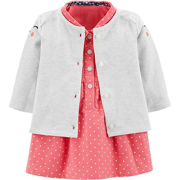 Комплект: Кардиган и платье Carter's для девочки Carter`s
