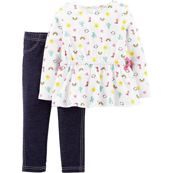 carter`s Комплект: Туника и брюки Carter's для девочки брюки джинсы и штанишки coccodrillo леггинсы для девочки seashells