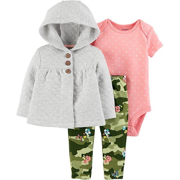 Комплект: Толстовка и брюки Carter's для девочки Carter`s