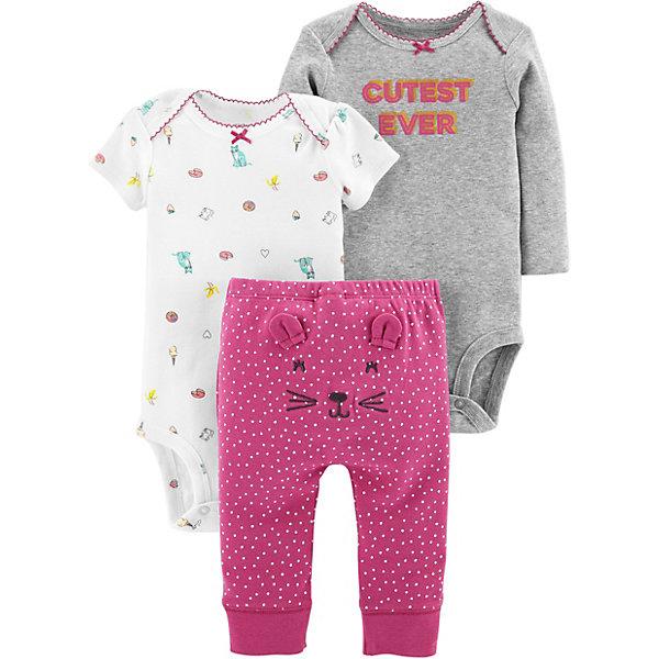 - Комплект: Боди 2 шт. и брюки Carter's для девочки брюки джинсы и штанишки coccodrillo брюки для девочки mouse