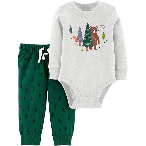 carter`s Комплект: Кардиган, боди и брюки Carter's для мальчика carter s комплект боди и брюки carter s для мальчика