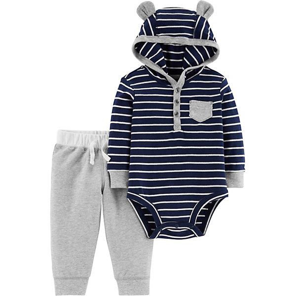 Купить Комплект: Боди и брюки Carter's для мальчика, Камбоджа, темно-синий, 80/86, 78-83, 72-78, 67-72, Мужской