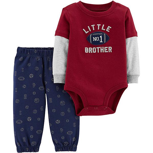 carter`s Комплект: Боди и брюки Carter's для мальчика красное боди и митенки elza s m