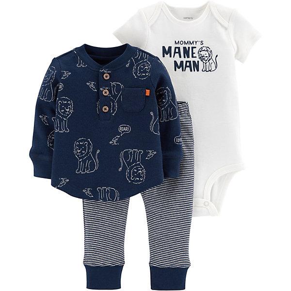 Комплект: Футболка с длинным рукавом, боди и брюки Carter's для мальчика Carter`s