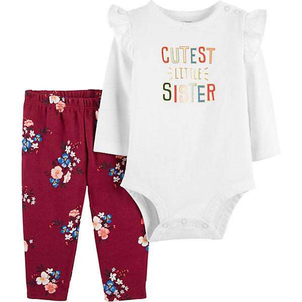 Купить Комплект: Боди и брюки Carter's для девочки, Камбоджа, бежевый, 78-83, 72-78, 67-72, 80/86, Женский