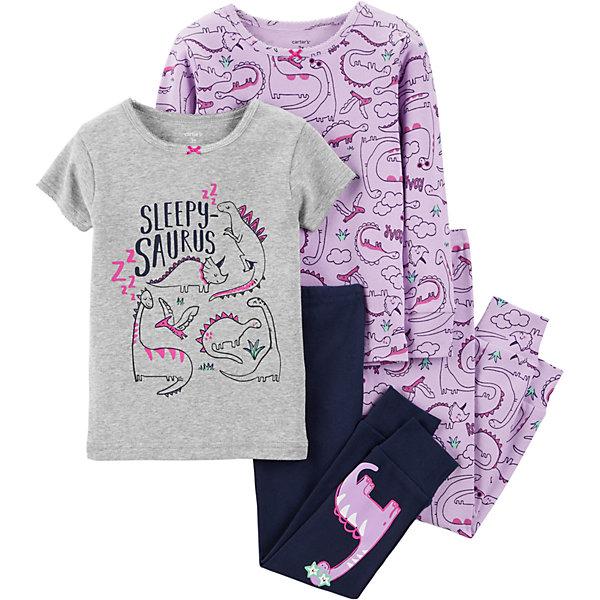 Пижама 2 шт. Carter's для девочки Carter`s
