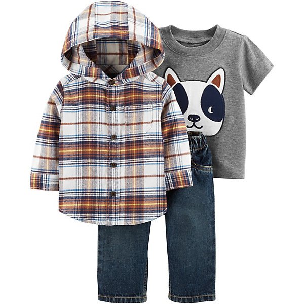 carter`s Комплект: Рубашка, футболка и джинсы Carter's для мальчика