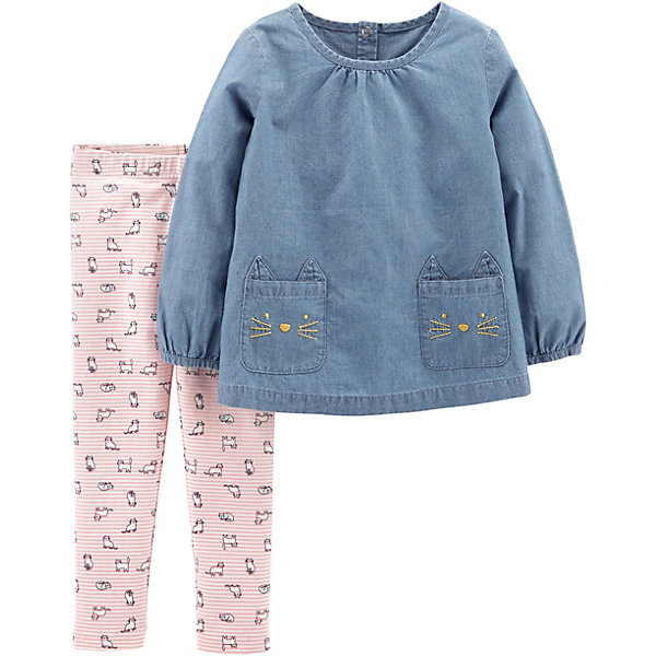 Комплект: Туника и брюки Carter's для девочки Carter`s