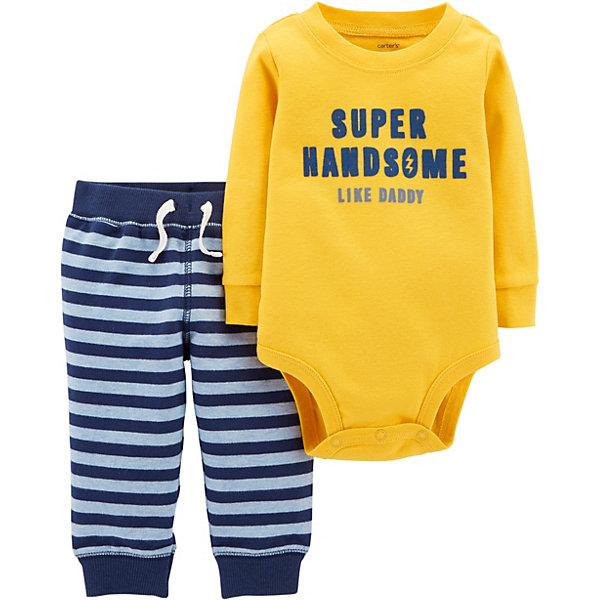 carter`s Комплект: Боди и брюки Carter's для мальчика carter s комплект боди и брюки carter s для мальчика