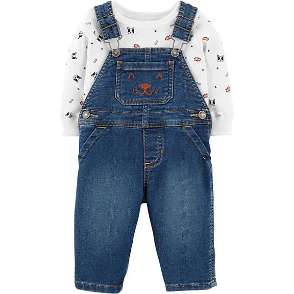carter`s Комплект: Толстовка и комбинезон Carter's для мальчика полукомбинезон джинсовый barkito монстр машина