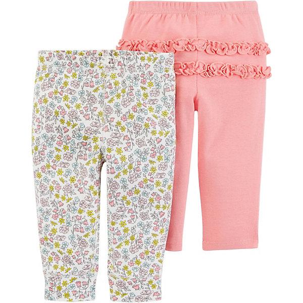 carter`s Брюки 2 шт. Carter's для девочки невидимка для волос funny bunny розовые цветы 2 шт
