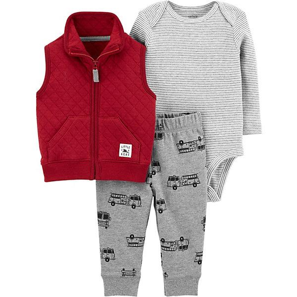 carter`s Комплект: Жилет, боди и брюки Carter's для мальчика carter s комплект боди и брюки carter s для мальчика