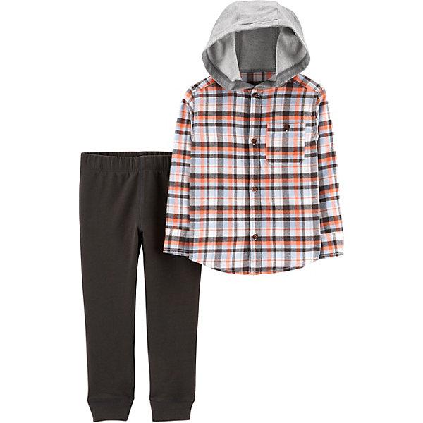 carter`s Комплект: Рубашка и брюки Carter's для мальчика брюки узкие с принтом в клетку виши