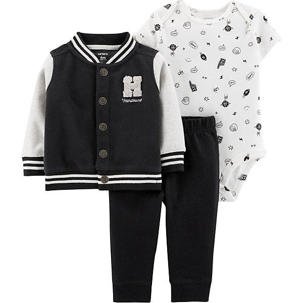 Комплект: Кардиган, боди и брюки Carter's для мальчика Carter`s