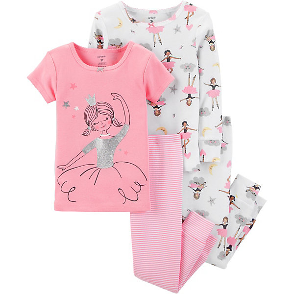 carter`s Пижама 2 шт. Carter's для девочки carter s 2pcs baby children kids 2 piece little sweater set 121h218 sold by carter s china official store