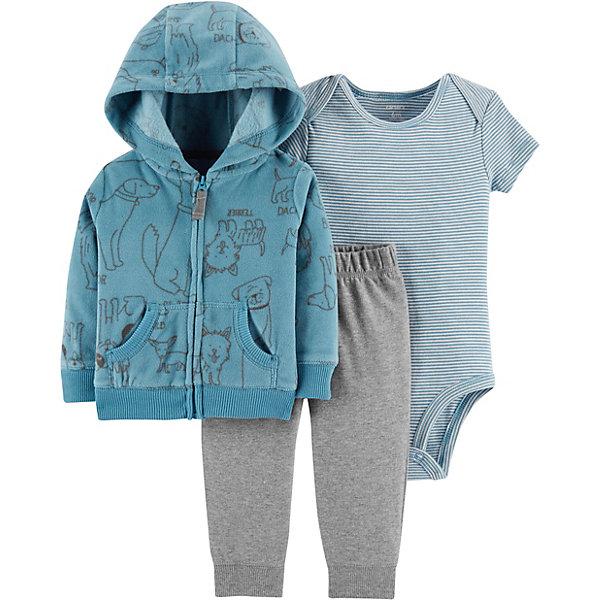 carter`s Комплект: Толстовка, боди и брюки Carter's для мальчика carter s комплект боди и брюки carter s для мальчика