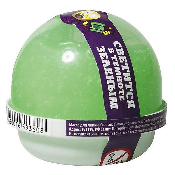 Slime Жвачка для рук Nano gum светится зелёным, 25 гр