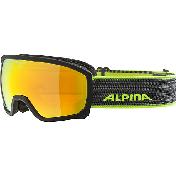 Alpina Горнолыжные очки Alpina Scarabeo JR. MM, чёрные очки горнолыжные alpina challenge 2 0 dh цвет белый