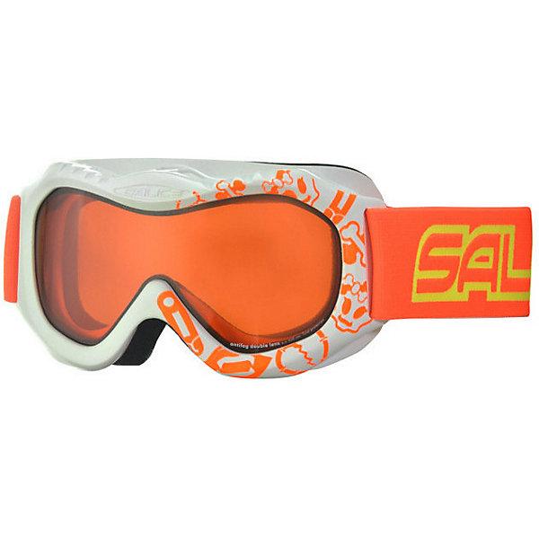Salice Горнолыжные очки Salice 601DAD, бело-оранжевые очки горнолыжные salice 602daf white orange